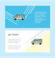 ambulance abstract corporate business banner vector image vector image