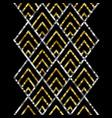 art deco golden sequin seamless border gatsby vector image