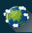 asia globe icon vector image vector image