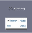bat logo design with business card template vector image vector image