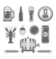 beer and brewery monochrome design elements vector image vector image