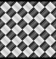 black and white geometrical abstract ring pattern vector image vector image