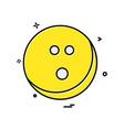 bowling ball icon design vector image