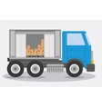 Box truck delivery shipping icon graphic vector image vector image