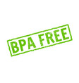 bpa free icon plastic free logo stamp vector image vector image