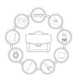 Businessman handbag contents vector image