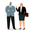 businessmen coulpe on white vector image vector image