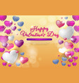 colorful background valentine vector image vector image