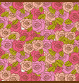 colorful realistic pattern with roses and leaves vector image vector image
