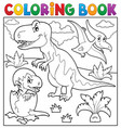 coloring book dinosaur topic 9 vector image vector image