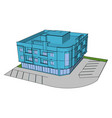 complex building on white background vector image vector image