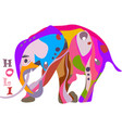 concept for the happy holi holiday of a decorated vector image