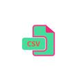 CSV Icon vector image vector image