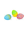 cute easter eggs with different ornaments spring vector image vector image