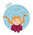cute zodiac sign - libra vector image