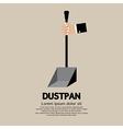 Dustpan vector image vector image