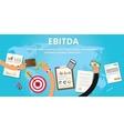 ebitda earnings before interest vector image vector image