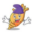 elf exotic shell character cartoon vector image