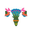female reproductive organs made colorful vector image vector image