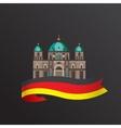 flat icon german berlin cathedral vector image vector image