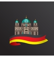 flat icon of German Berlin Cathedral vector image vector image
