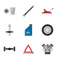 flat icon workshop set of lifting motor vector image vector image