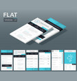 flat ui design concept vector image vector image