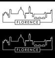 florence skyline linear style editable file vector image