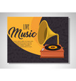 gramophone musical festival label vector image
