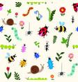 happy bugs vector image vector image