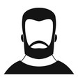 hipster icon simple style vector image