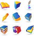 Icons for books vector image