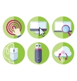Information resource devices icon set vector image vector image