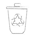 isolated recycle bin vector image vector image