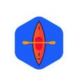 kayak canoe icon flat vector image vector image
