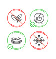 leaves car and refresh like icons set logistics vector image vector image