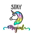 little unicorn cartoon drawing vector image