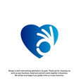 love heart icon best love logo concepts okay logo vector image