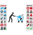 Medical Shopping Icon vector image vector image