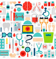 medicine seamless pattern vector image