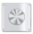 metal button with circular processing vector image