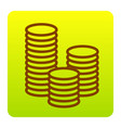 money sign brown icon at vector image