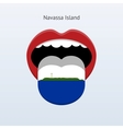 Navassa Island language Abstract human tongue vector image vector image