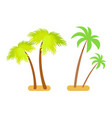 palms collection green set vector image vector image
