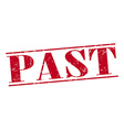 past red grunge vintage stamp isolated on white vector image vector image