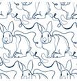 rabbit animal art line modern seamless pattern vector image