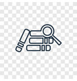 research with books concept linear icon isolated vector image