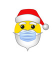 santa emoji smile medical mask vector image