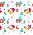 seamless pattern with yummy sweet candies vector image