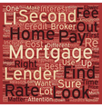Second Mortgage Tips text background wordcloud vector image vector image